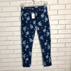 J. Crew Girls' flower Stretch Toothpick Jeans